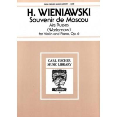 CARL FISCHER WIENIAWSKI H. - SOUVENIR DE MOSCOU - VIOLON & PIANO