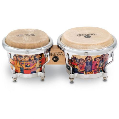LP LATIN PERCUSSION LPM200-AW MINI TUNABLE BONGOS SANTANA