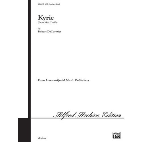 ALFRED PUBLISHING RAMIREZ ARIEL - KYRIE - MIXED VOICES SATB