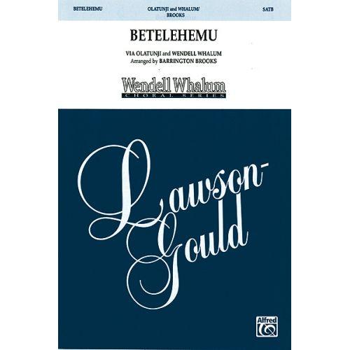 ALFRED PUBLISHING BETELEHEMU - MIXED VOICES