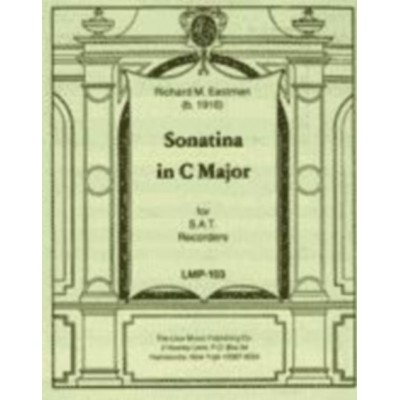 LOUX MUSIC COMPANY EASTMAN RICHARD M. - SONATINA IN C MAJOR - SAT RECORDERS
