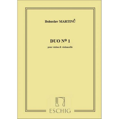 EDITION MAX ESCHIG MARTINU - DUO N 1 - VIOLON ET VIOLONCELLE