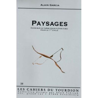 CAHIERS DU TOURDION GARCIA A. - PAYSAGES - 2 FLÛTES A BEC