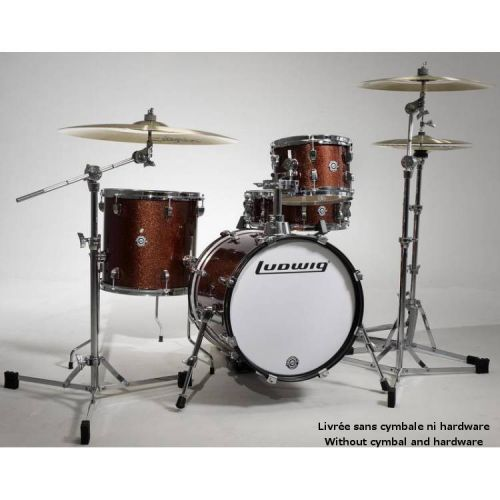 LUDWIG LC179XO25 - KIT BREAKBEATS QUESTLOVE RED BROWN SPARKLE