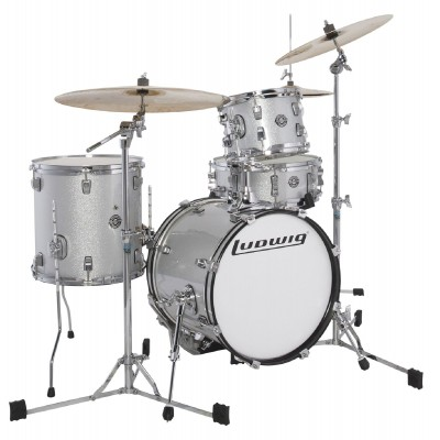 LUDWIG DRUMS LC179XX028 - KIT BREAKBEATS QUESTLOVE WHITE SPARKLE
