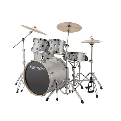 LUDWIG DRUMS KIT LUDWIG ELEMENT 200 4F SILVER/WHITE SPARKLE