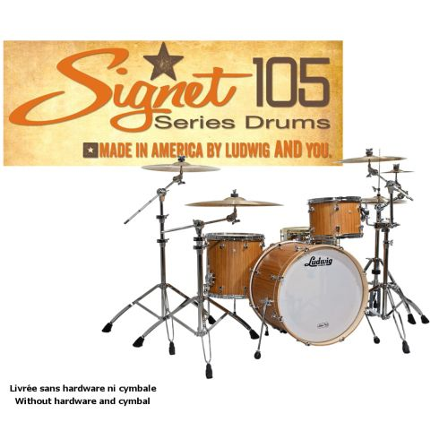 LUDWIG SIGNET 105 GIGABEAT - 20/12/14 Indian Teak NATURAL