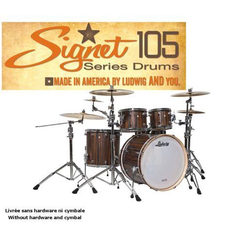 LUDWIG SIGNET 105 TERABEAT - 22/10/12/16 Macassar Ebony BROWN