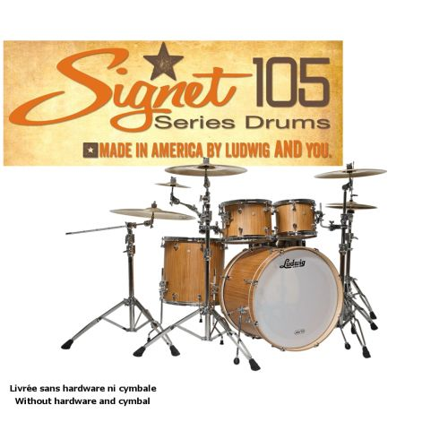 LUDWIG SIGNET 105 TERABEAT - 22/10/12/16 INDIAN TEACK NATURAL