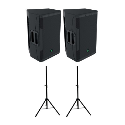 MACKIE SRM 550 (PAIR) + STANDS ST35B OFFERED
