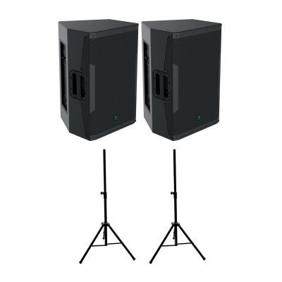 MACKIE SRM 650 (PAIR) + STANDS ST35B OFFERED