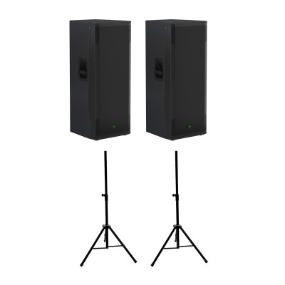 MACKIE SRM 750 (PAIR) + STANDS ST35B OFFERED