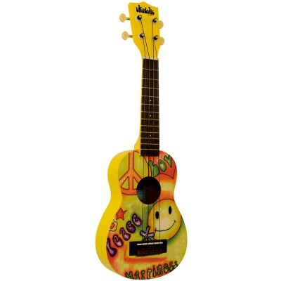 MAKALA MK-SPEACE UKULELE SOPRANO UKADELIC PEACE AND LOVE