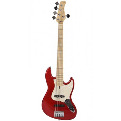 SIRE MARCUS MILLER V7 SWAMP ASH-5 BMR BRIGHT METALLIC RED