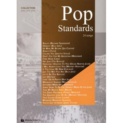VOLONTE&CO POP STANDARDS COLLECTION 24 SONGS - PVG