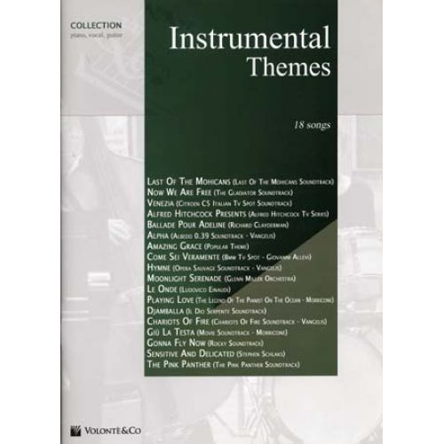 VOLONTE&CO INSTRUMENTAL THEMES COLLECTION 18 SONGS - PVG