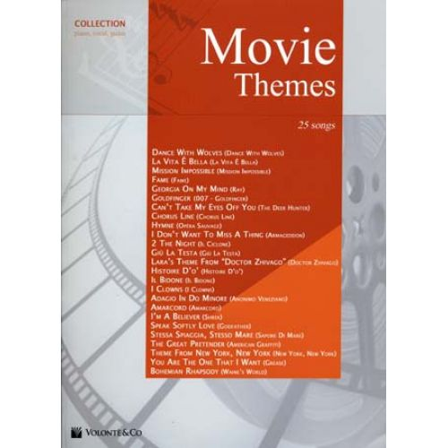 VOLONTE&CO MOVIE THEMES COLLECTION 25 SONGS - PVG