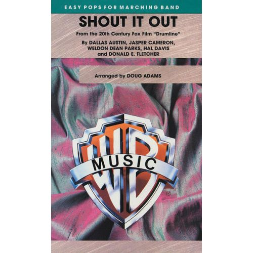 ALFRED PUBLISHING ADAMS DOUG - SHOUT IT OUT DRUMLINE - SCORE AND PARTS