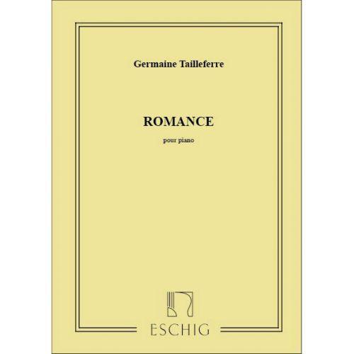 EDITION MAX ESCHIG TAILLEFERRE G. - ROMANCE - PIANO