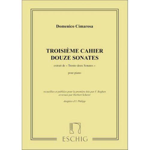 EDITION MAX ESCHIG CIMAROSA D. - 32 SONATES VOL.3 (21 A 32 ) - PIANO