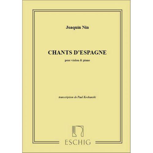 EDITION MAX ESCHIG NIN - CHANTS D'ESPAGNE - VIOLON ET PIANO
