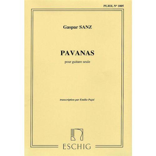 EDITION MAX ESCHIG SANZ - PAVANAS - GUITARE