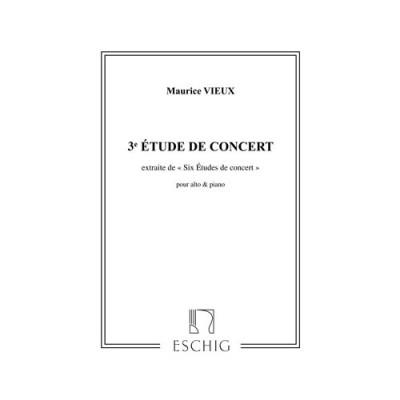 EDITION MAX ESCHIG VIEUX - ETUDES CONCERT N 3 - ALTO ET PIANO