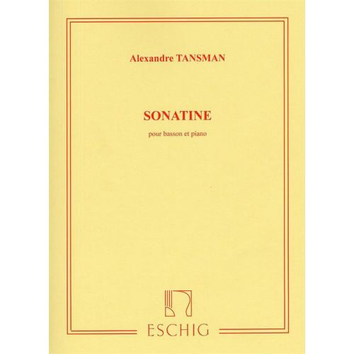 EDITION MAX ESCHIG TANSMAN - SONATINE - BASSON