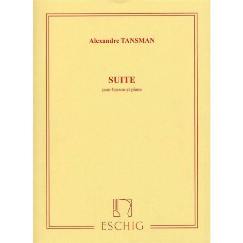 EDITION MAX ESCHIG TANSMAN A. - SUITE - BASSON ET PIANO