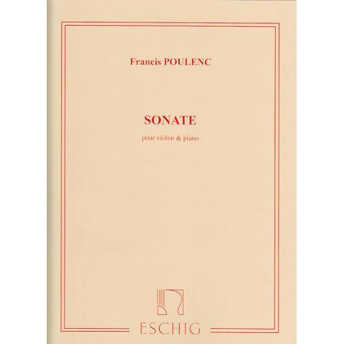 EDITION MAX ESCHIG POULENC F. - SONATE - VIOLON ET PIANO