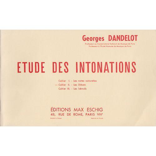 EDITION MAX ESCHIG DANDELOT GEORGES - ETUDE DES INTONATIONS VOL.2