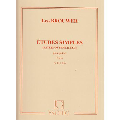 EDITION MAX ESCHIG BROUWER ETUDES SIMPLES 3èME SERIE (N 11 A 15)