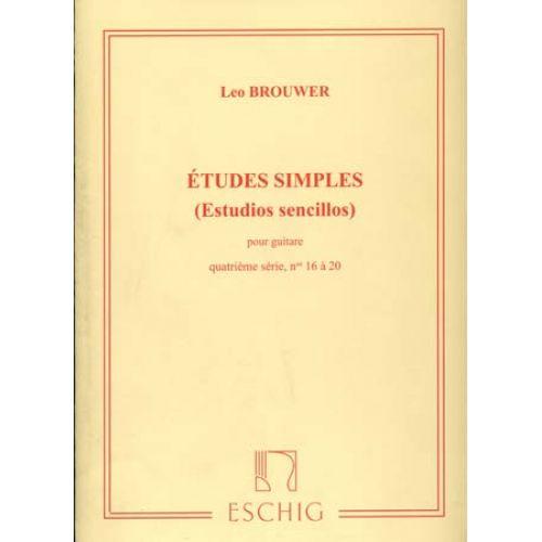 EDITION MAX ESCHIG BROUWER - ETUDES SIMPLES POUR GUITARE 4EME SERIE N°16 - 20
