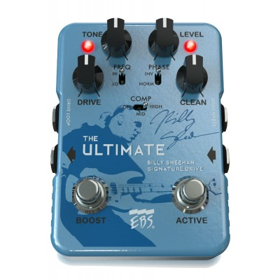 EBS BILLY SHEEHAN ULTIMATE SIGNATURE BASS OVERDRIVE PEDAL