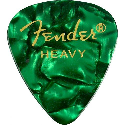FENDER 351 SHAPE PREMIUM PICKS 12 PACK GREEN MOTO HEAVY