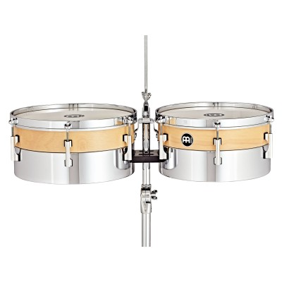 MEINL HYT1314 - LATIN TIMBALES HYBRID - OAK AND STEEL 13/14
