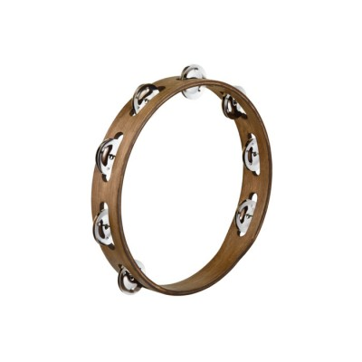 MEINL TRADITIONAL WOOD TAMBOURINES, STAINLESS STEEL JINGLES