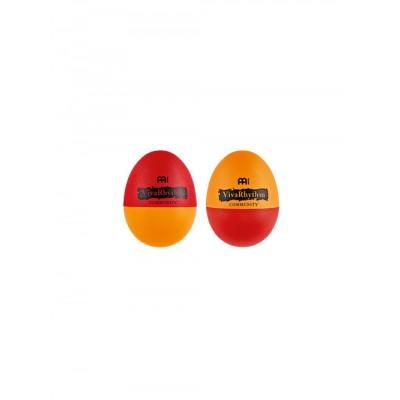 MEINL PLASTIC EGG SHAKER - PAIR - RED/ORANGE
