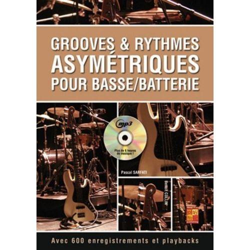 PLAY MUSIC PUBLISHING SARFATI PASCAL - GROOVES & RYTHMES ASYMETRIQUES POUR BASSE BATTERIE + CD