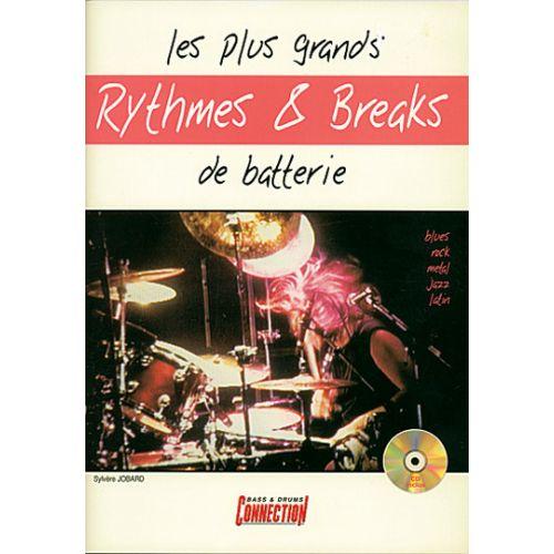 PLAY MUSIC PUBLISHING JOBARD SYLVERE - GRANDS RYTHMES & BREAKS + CD - BATTERIE