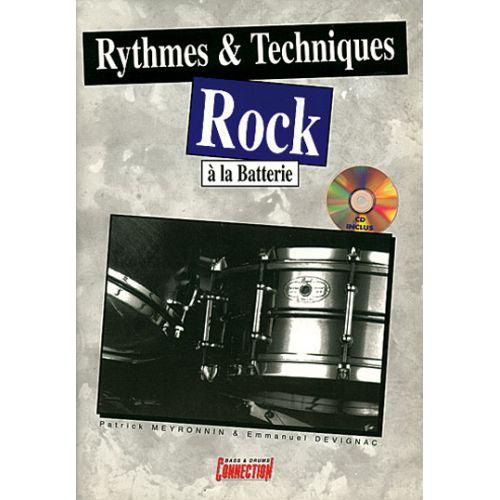 PLAY MUSIC PUBLISHING MEYRONNIN P., DEVIGNAC E. - RYTHMES & TECHNIQUES ROCK + CD - BATTERIE