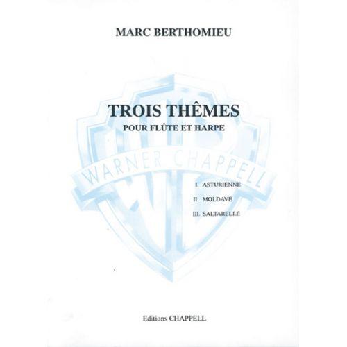 CARISCH BERTHOMIEU M. - TROIS THEMES - FLÛTE, HARPE