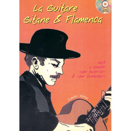 PLAY MUSIC PUBLISHING WORMS CLAUDE - GUITARE GITANE & FLAMENCA + CD VOL. 3 - GUITARE TAB