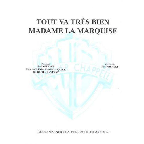 carisch ventura tout va tres bien madame la marquise piano chant woodbrass n 176 1 fran 231 ais