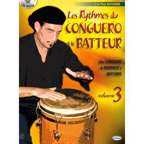 CARISCH BOISSIERE J.P. - RYTHMES DU CONGUERO + CD - PERCUSSIONS
