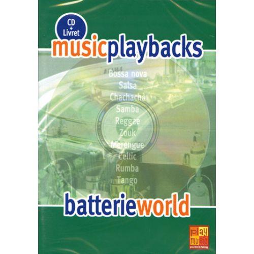 PLAY MUSIC PUBLISHING BATTERIE WORLD + CD - BATTERIE