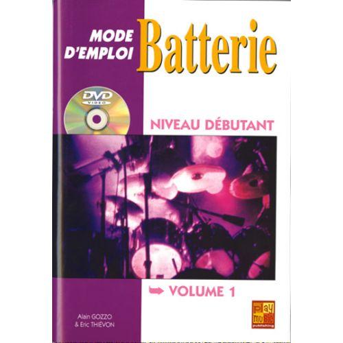 PLAY MUSIC PUBLISHING THIEVON ERIC - BATTERIE MODE D'EMPLOI DEBUTANT + DVD - BATTERIE