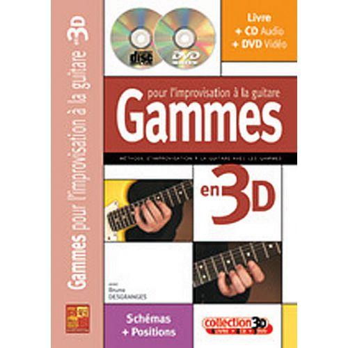 PLAY MUSIC PUBLISHING DESGRANGES BRUNO - GAMMES POUR L'IMPROVISATION A LA GUITARE EN 3D CD + DVD