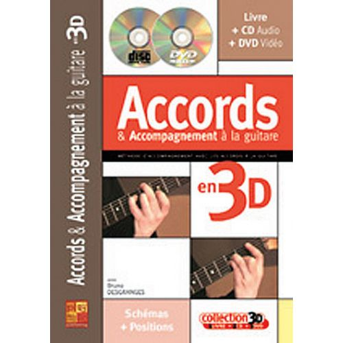 PLAY MUSIC PUBLISHING DESGRANGES BRUNO - ACCORDS & ACCOMPAGNEMENTS A LA GUITARE EN 3D CD + DVD