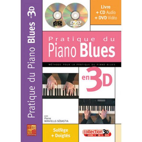 PLAY MUSIC PUBLISHING MINVIELLE-SEBASTIA - PRATIQUE DU PIANO BLUES EN 3D CD + DVD